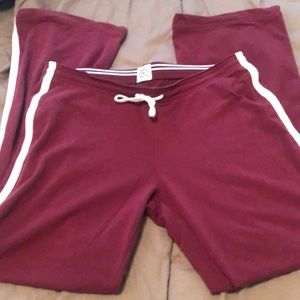 Abercrombie & Fitch maroon track pants